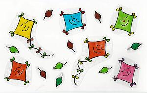 15 tlg.window color fensterbilder set herbst-drachen-laub-blätter   ebay