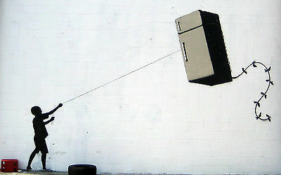 A4 BANKSY ART PHOTO PRINT FOR 99P (FRIDGE KITE)