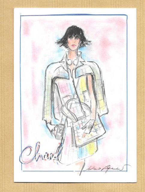 65b243f024a7 Très belle carte adversiting card greetings CHANEL   KARL LAGERFELD (4)