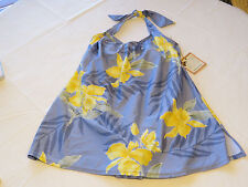 Tommy Bahama T1220 Perwinkle blue floral 14 Womens 1 piece swim suit Bathing NWT