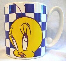 Vintage Looney Tunes Tweety Bird Checkerboard 1996 Warner Bros. Coffee Cup Mug