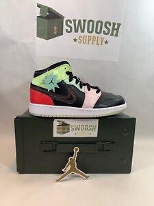 venta online modelos de gran variedad diferentemente Nike Air Jordan 1 Mid SE GS Glow in the Dark Shoe Size 4y Black ...