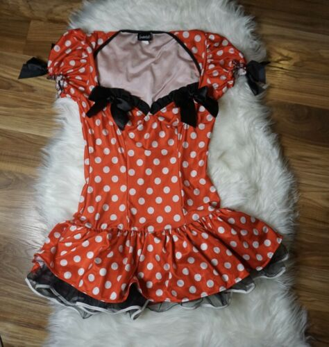 EUC Frederick's Of Hollywood Miss Mini Mouse Polka