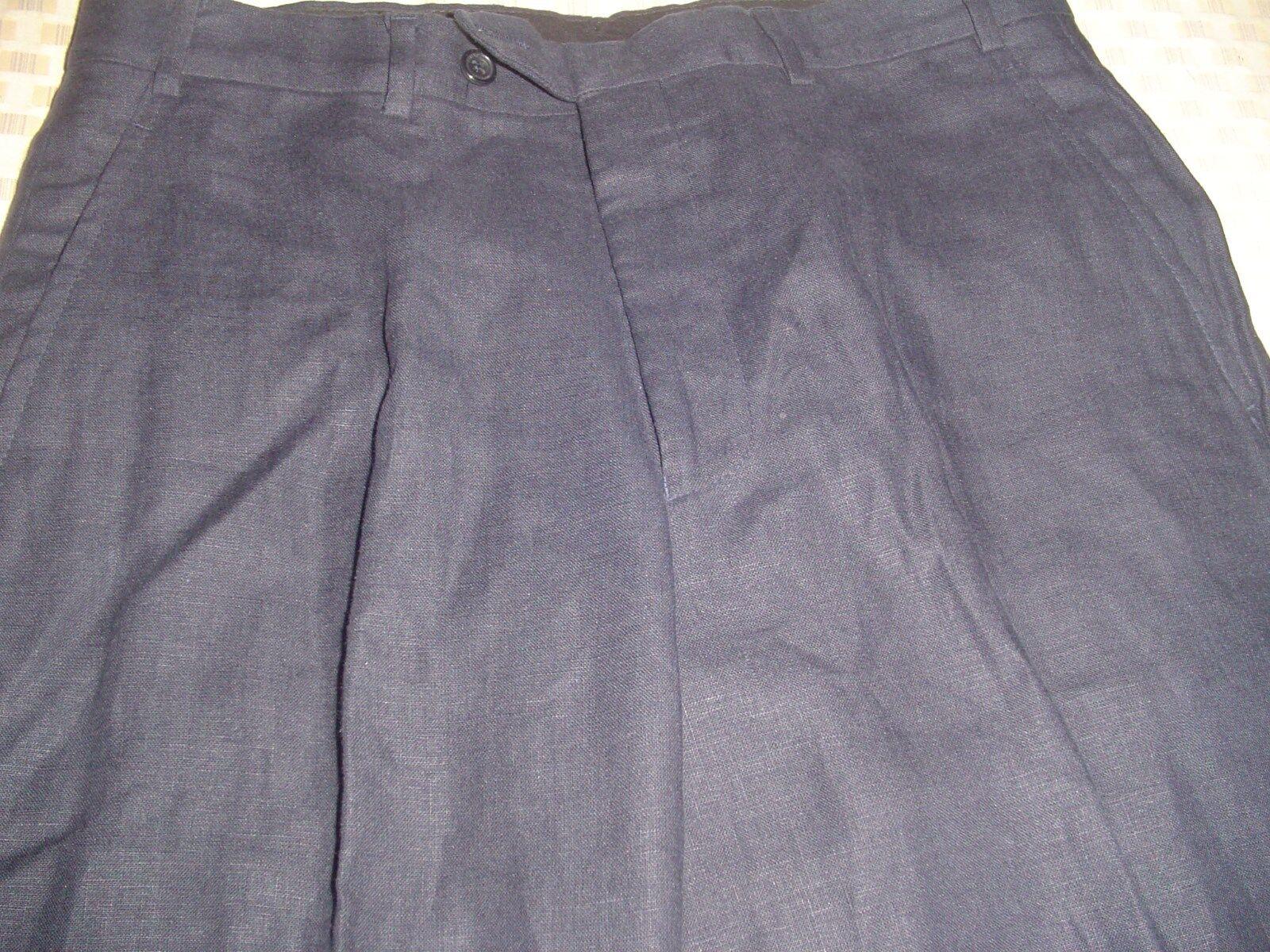 AQUASCUTUM AQUASCUTUM AQUASCUTUM Navy Lino Pantaloni 32 R f761a1
