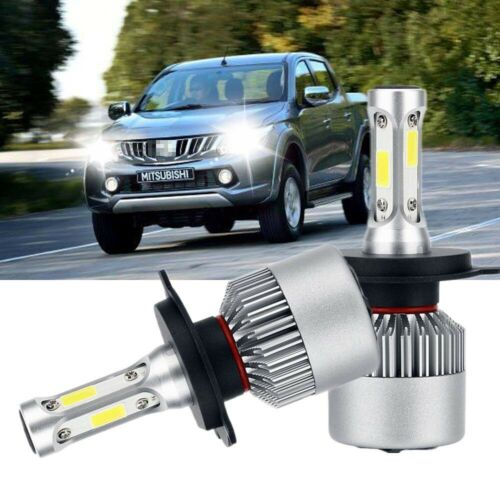 2PC LED Bulbs Headlight H4 Combo KIT High Low Beam FOR Mitsubishi L200