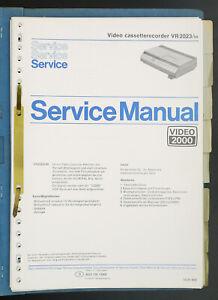 Philips-VR-2030-video-2000-original-VCR-Service-Manual-diagram-Parts-List