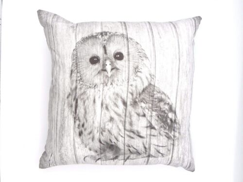 CUTE/&CUDDLY SUPER SOFT OWL CUSHION COVERS IN FAUX SUEDE 45X45cms