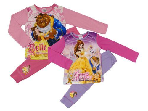 Filles Beauty and the Beast Pyjamas Deux Styles 4-5 Ans à 9-10 ans