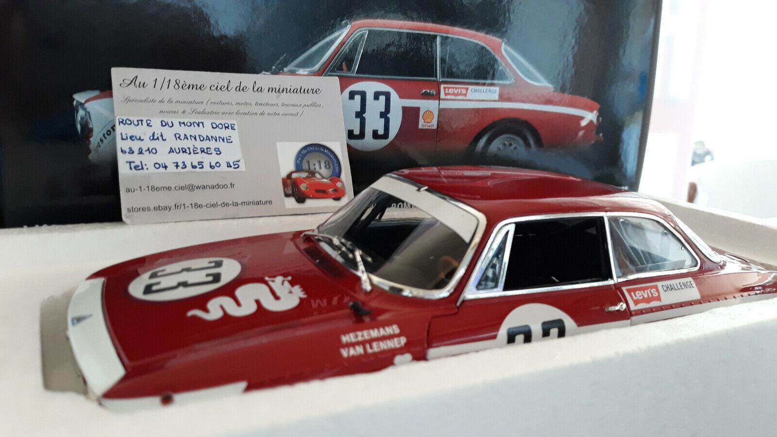 ALFA ROMEO GTA 1300 JUNIOR 1972 rge   33 LENNEP JARAMA 1 18 Minichamps 100721233