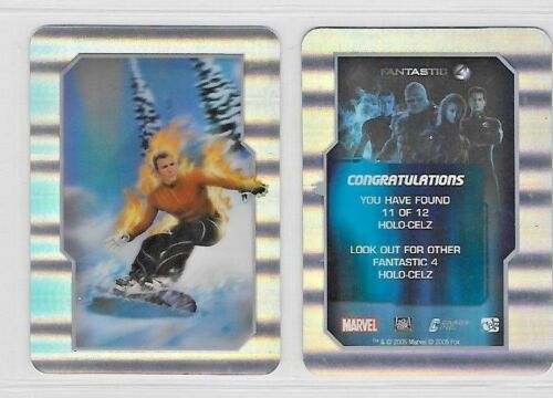 FANTASTIC 4 FANTASTIC FOUR HOLO CELZ  CARDS  001 TO 012  BY CARDS  INC CHOOSE