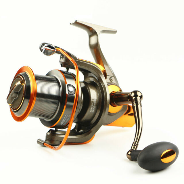 8000-9000 13+1 Ball Bearings Long Shot Fishing Spinning Reel Sea Saltwater 4.6:1