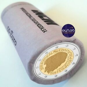 Rouleau-25-x-2-euros-commemoratives-PORTUGAL-2019-Tour-du-Monde-de-Magellan