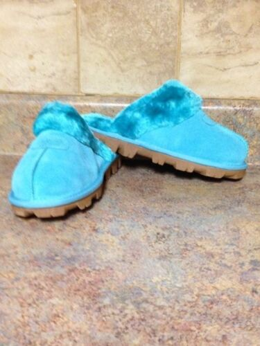 7* WOMEN/'S GREEN SUEDE SOFT COMFY SLIPPERS-SIZE