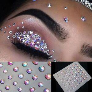 Beauty Glitter Face Lasers Rhinestone Adhesive Crystal Eye Gems Body ...