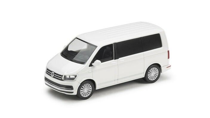 VERY RARE VW T6 7E MULTIVAN BUS VAN 2018 CANDY Weiß 1 87 HERPA (DEALER MODEL)