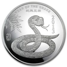 10 oz Year of the Snake Silver Round - SKU #71914