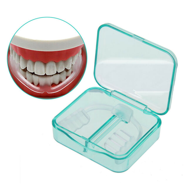 Mouth Guard Stop Teeth Grinding Anti Snoring Bruxism with Case Box Sleep Aid