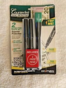 Dri-mark-Smart-Money-Counterfeit-Detector-Pen-with-UV-Led-Light-351UVB-2-pens