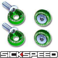 4 Pc Green Aluminum Washer/bolt Dress Up Kit For Ruckus/scooter Tires Y1