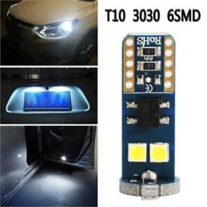 4x-T10-6-SMD-3030-LED-White-Car-Side-Light-Lamp-Wedge-Bulb-Super-Bright-Light