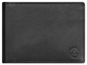 genuine mercedes benz black leather wallet b66951353 new. Black Bedroom Furniture Sets. Home Design Ideas