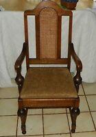 Quartersawn Oak Caned Back Armchair / Desk Chair  (AC14)