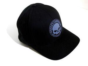 Harley-Davidson-Skull-Totenkopf-Baseball-Cap-Kappe-schwarz-Muetze-99409-16VM