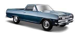 1//24 Scale 1965 Chevy El Camino 327 Pickup Truck Diecast Model Maisto 31977 Blue