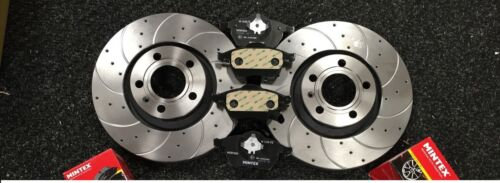 FOR AUDI A3 2.0TDI 140BHP BRAKE DISC DRILLED GROOVED BRAKE PADS FRONT