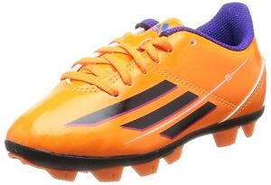 1cfdd12f42d7 Image is loading Adidas-Junior-Boys-Girls-Orange-Black-F5-TRX-