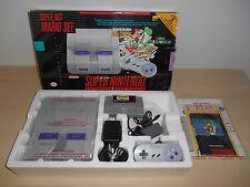 Super Nintendo System Complete SNES Console Super NES Mario World All Stars Set