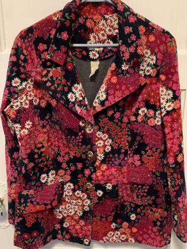 Vintage ALDENS Flower Power Hippie Boho Cotton Vel
