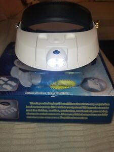 Headband-Headset-Head-LED-Lamp-Light-Jeweler-Magnifier-Magnifying-Glass-Loupe