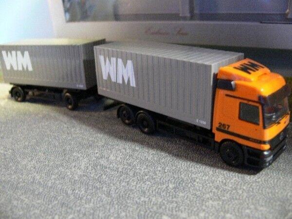 1 87 Herpa MB Actros WM Group 267 cargobox Hängerzug 229647