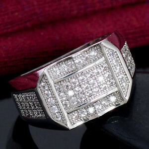 LN/_ New Women Square Cubic Zirconia Inlaid Stud Earrings Banquet Jewelry Gift