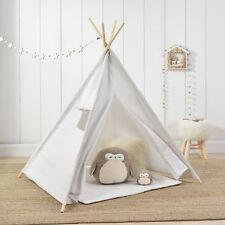 [en.casa]® Kinderzelt Weiß Spielzelt Babyzelt Spielhaus Tipi Indianer Wigwam