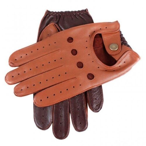 Dents Waverley Two Tone Leather Driving Gloves COGNAC/ENGLISH TAN