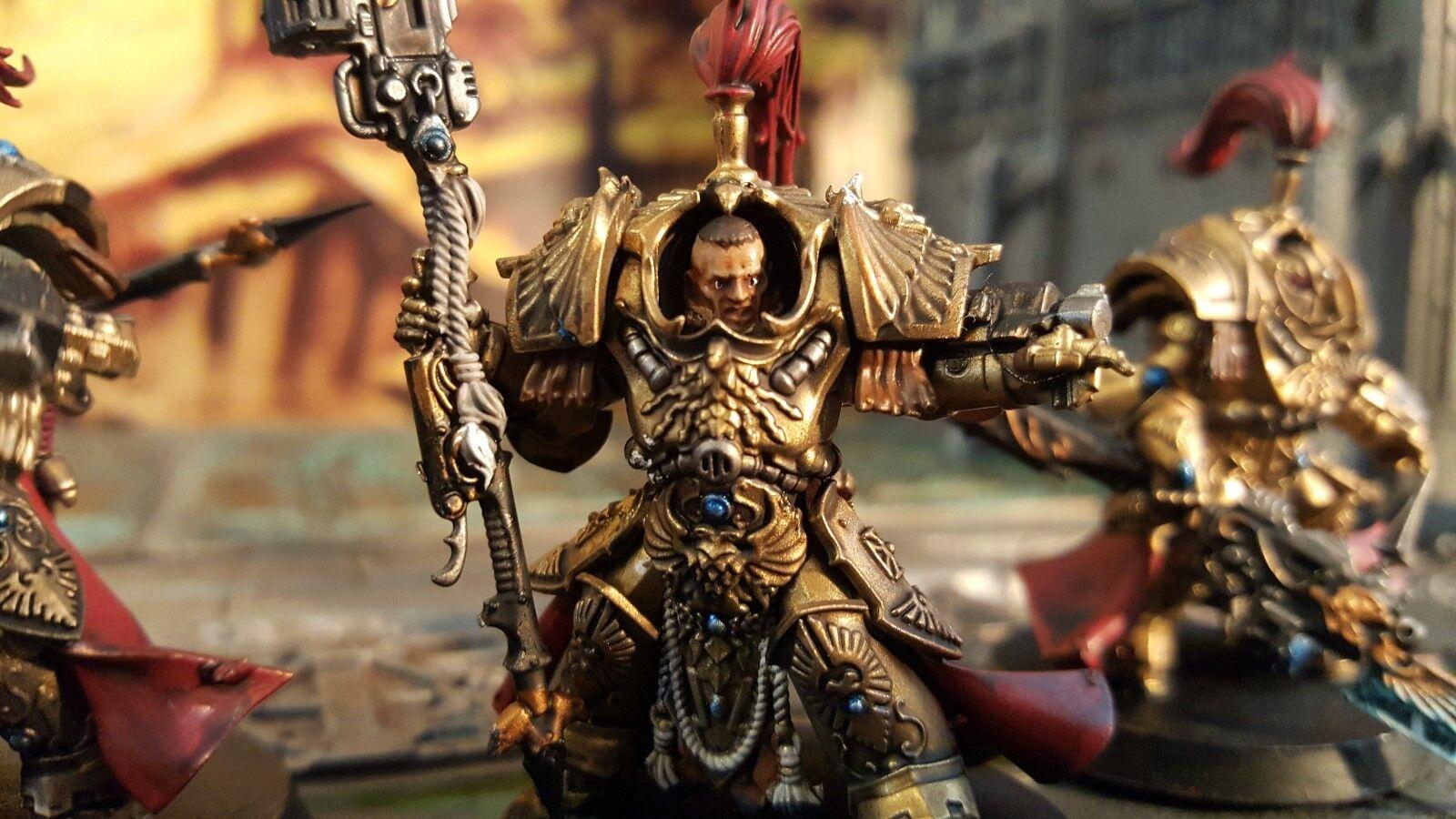 Warhammer 40k legio custodes custodes custodes custodian Allarus squad pro painted made to order c1ed4c