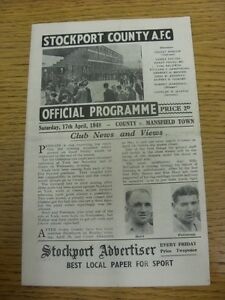 17-04-1948-Stockport-County-v-Mansfield-Town-folded-team-changes-This-item