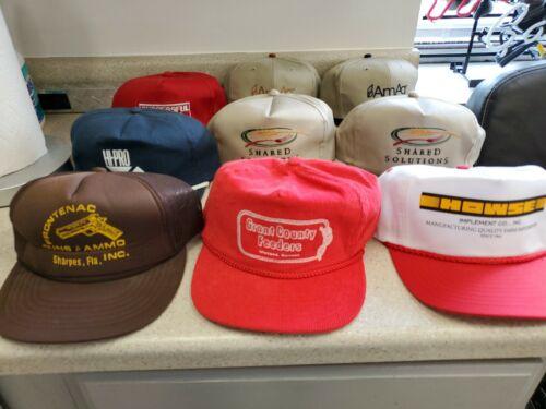Vintage Lot Of 9 SnapBack Hats Caps Farm Trucker