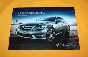 Mercedes-C-Klasse-Coupe-Edition-C-2013-Prospekt-Brochure-Depliant-Catalog-Folder