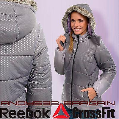 womens winter warm jacket fur hood slim Lightweight Snow Reebok NWT Small XS S