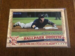 2019-Topps-Big-League-Baseball-Ballpark-Oddities-Christian-Yelich-Brewers