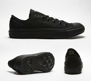 Original-New-Adult-Canvas-Converse-Shoes-All-Star-Black-Mono-Ox-UK-3to11-Unisex
