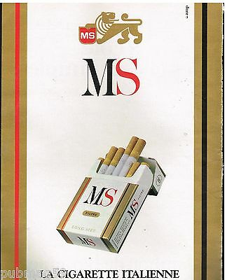 Breweriana, Beer Collectibles Publicité Advertising 1988 Les Cigarettes Ms Matching In Colour