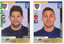72-73 AGUSTIN ORION FERNANDO TOBIO ARGENTINA BOCA JUNIORS FIFA 365 PANINI