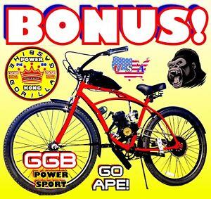 "NEW 2-STROKE 66cc//80cc MOTORIZED BIKE KIT AND 26/"" CRUISER BICYCLE DIRT BIKE"