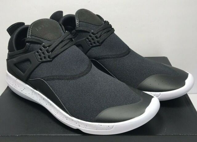 22e19c6203e5 Nike Jordan Mens Sz 10.5 Fly  89 Lunarlon Trainers Black White Shoes 940267- 010