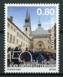 Luxembourg-Churches-Stamps-2020-MNH-Diocese-of-Luxembourg-Architecture-1v-Set