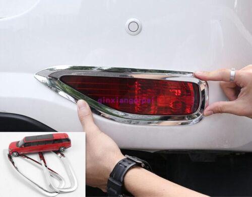 For Toyota Fortuner SUV 2018 ABS Chrome Exterior rear Fog lamp Light cover Trim